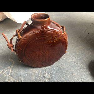 Frankoma Pottery Thunderbird Design Canteen